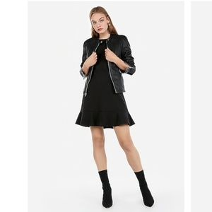 Express (Minus The) Leather Double Peplum Jacket